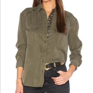 New Free People off campus button down shirt